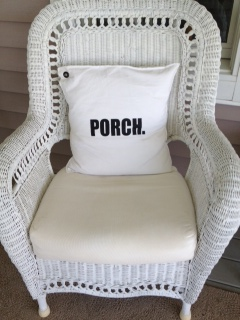 Vintage Wicker Club Chair