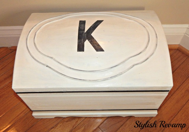 DIY Hand Painted Mini Chest with Stencil