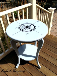 DIY Painted Compass Table