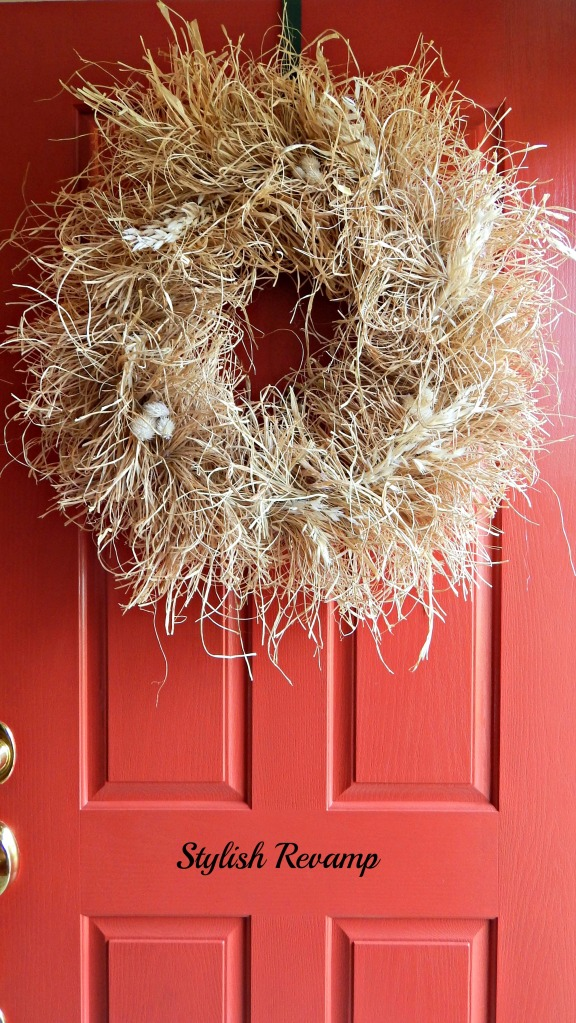 DIY Raffia Wreath