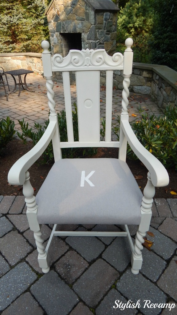 Vintage Dining Room Chair Revamp with Drop Cloth and Chalk Paint