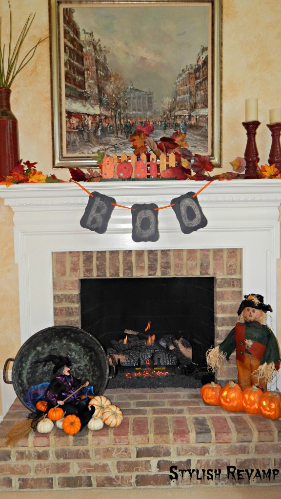 Fall Halloween Mantle