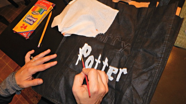 DIY Halloween Harry Potter Bag
