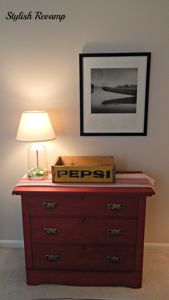 Red Chalk Paint Dresser
