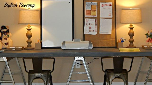 DIY Desk TJ Maxx Lamps