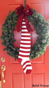 Christmas Wreath with Stocking
