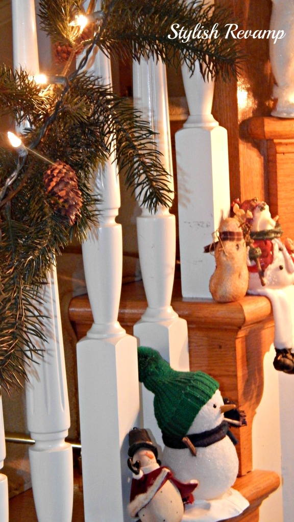 Banister decked out for Christmas