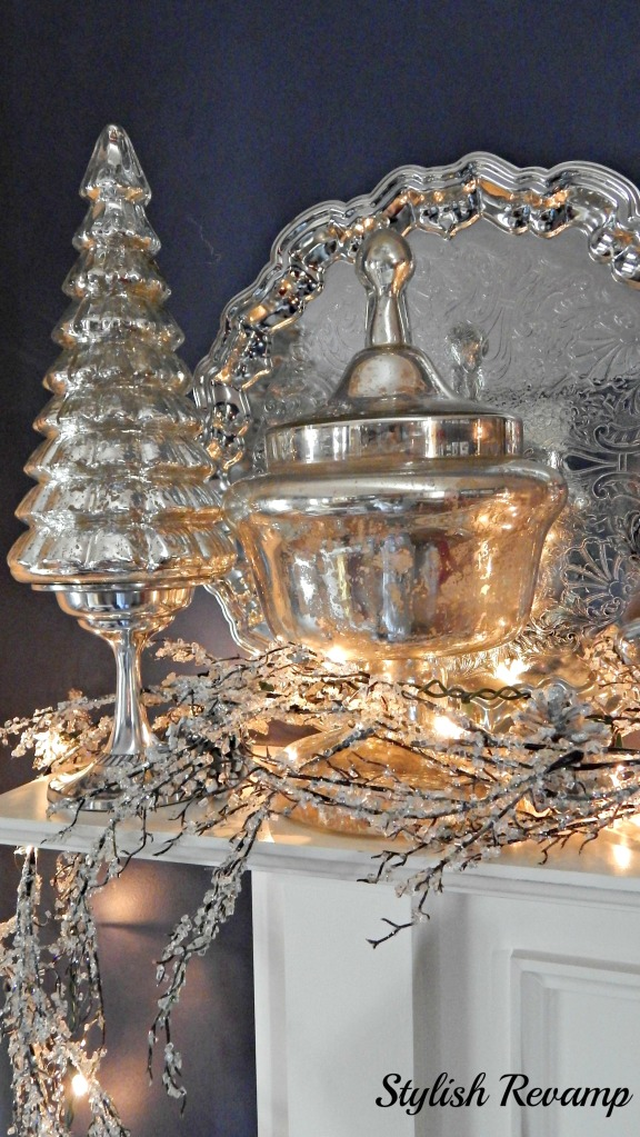 Silver Christmas Mantel