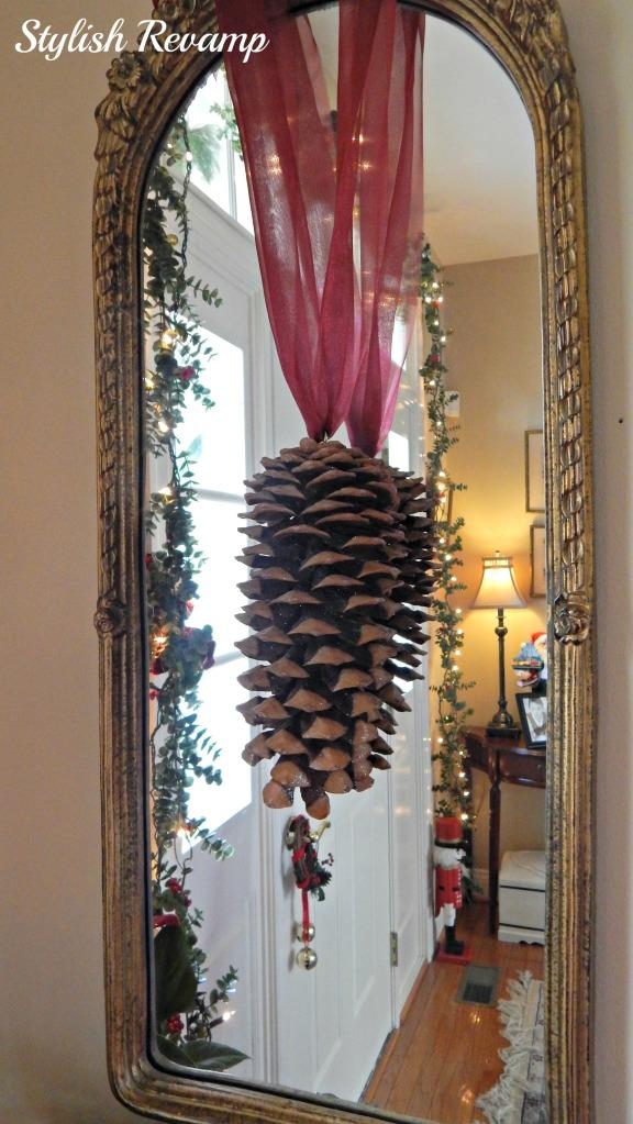 Large Pinecone Christmas Decor