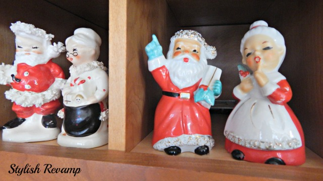 Vintage Santa and Mrs. Clause Figurines