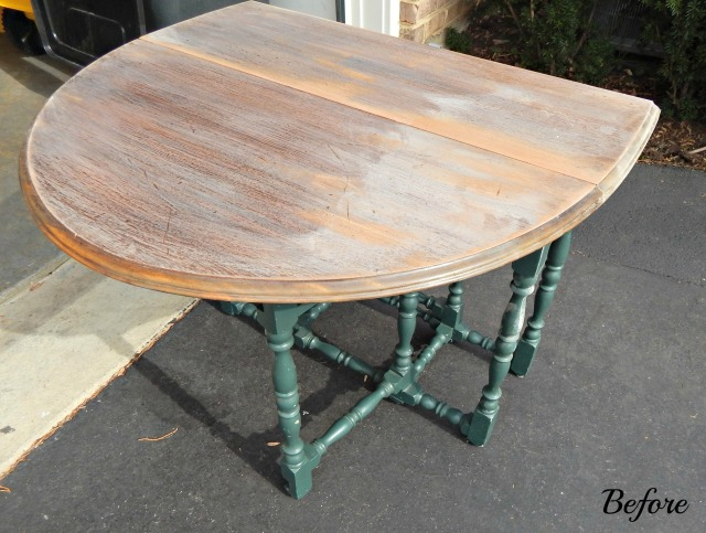 Gateleg Table before revamp