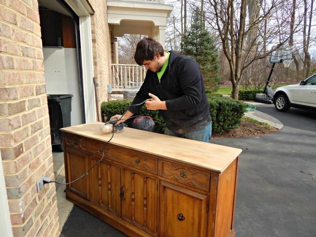 DIY Goodwill Credenza