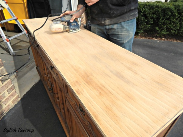 Credenza DIY Stain and Paint