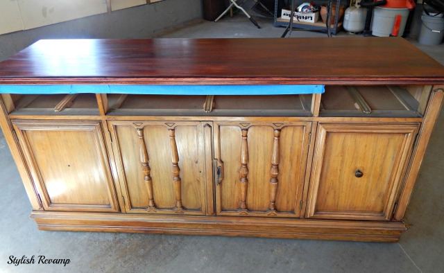 DIY Credenza with Stain