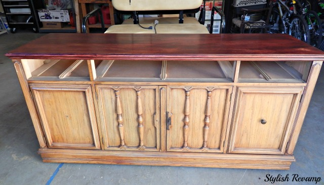Goodwill Credenza with Chalk Paint and Stain