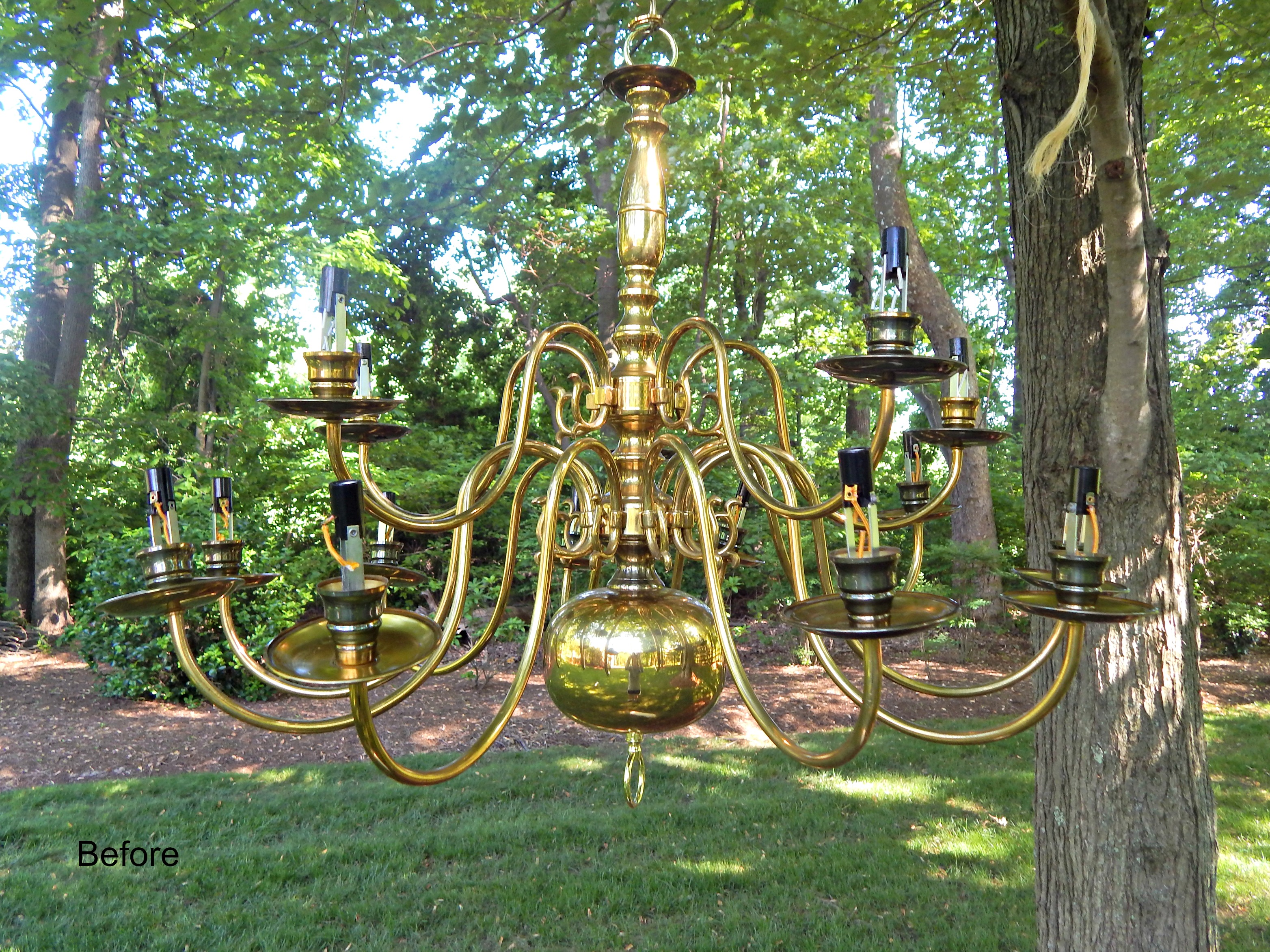 Outdoor Solar Powered Chandelier fallcreekonline