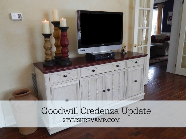 Goodwill Credenza Update Chalk Paint and Stain
