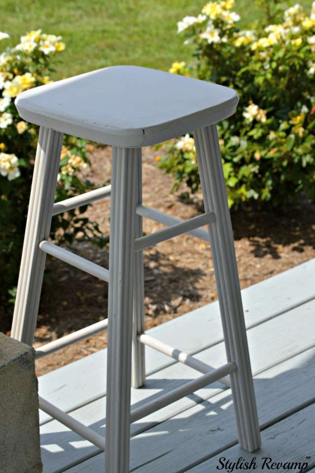 DIY Gray Chalk Paint Stool