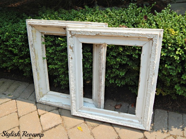 Vintage  White Wooden Picture Frames