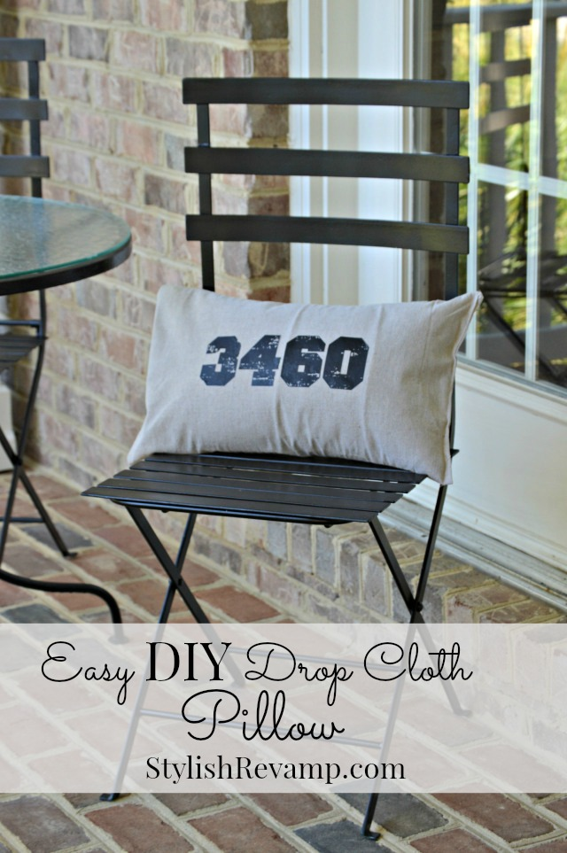 Easy DIY Drop Cloth Pillow