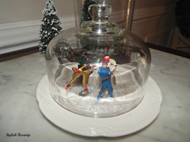 Cloche with Vintage Metal Figurines