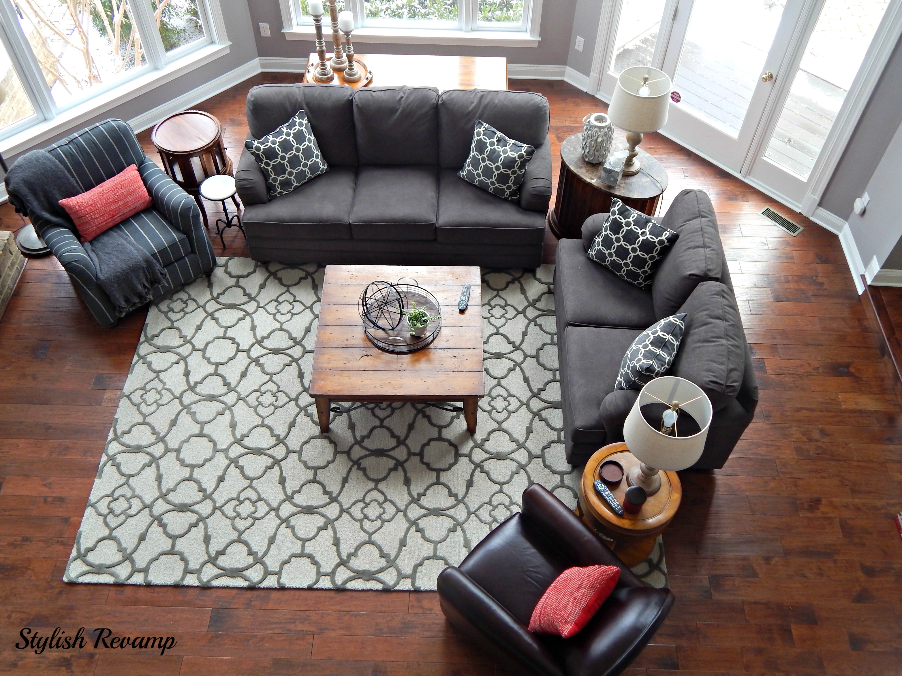 family room revamp - stylish revamp
