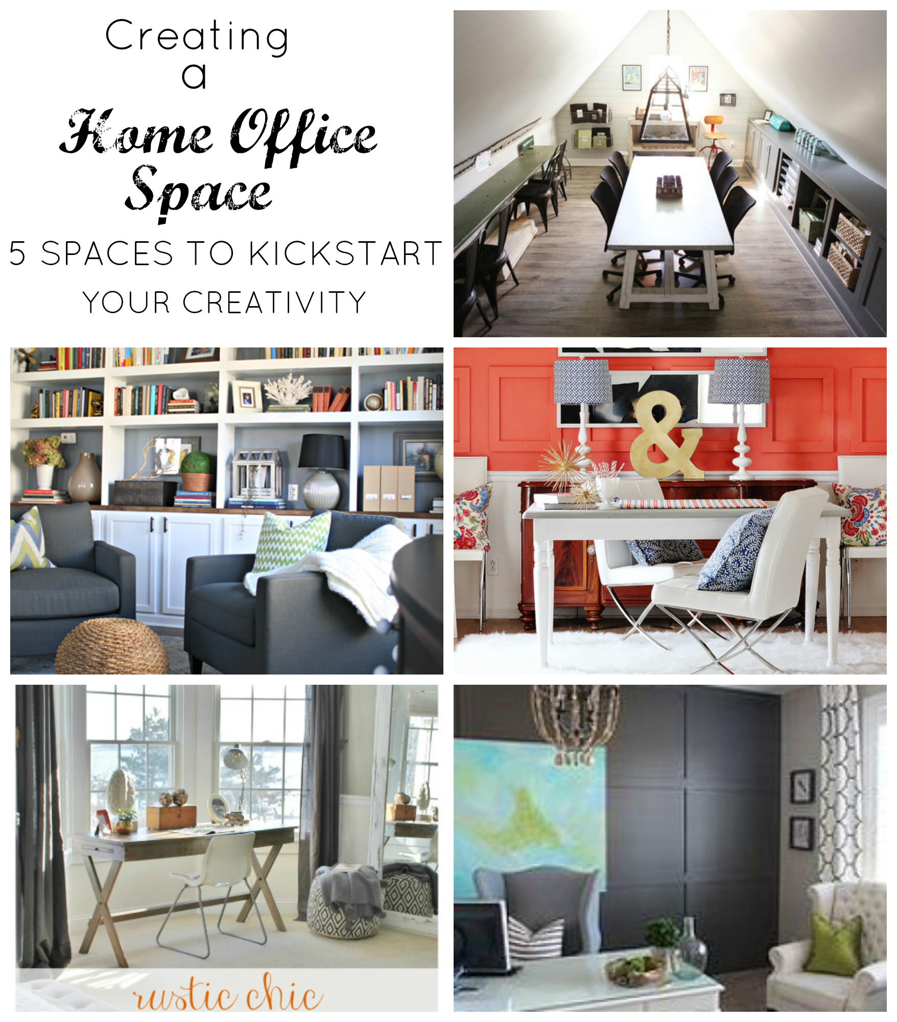 Terrific Creating A Home Office Space Stylish Revamp Largest Home Design Picture Inspirations Pitcheantrous
