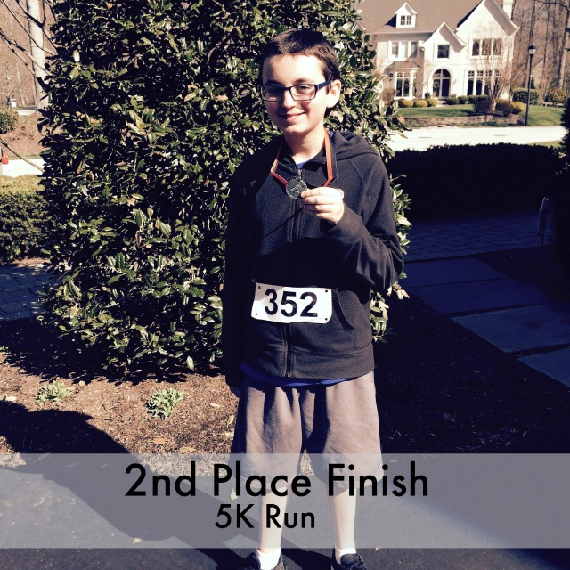 5k 2nd place runner