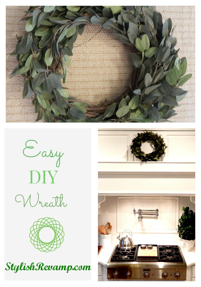 Adding greenery to the kitchen with a DIY wreath