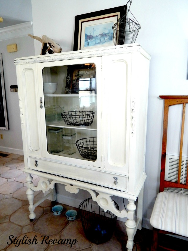 antique hutch painted with Annie Sloan Chalk Paint