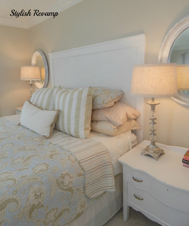 Master bedroom in creams and whites
