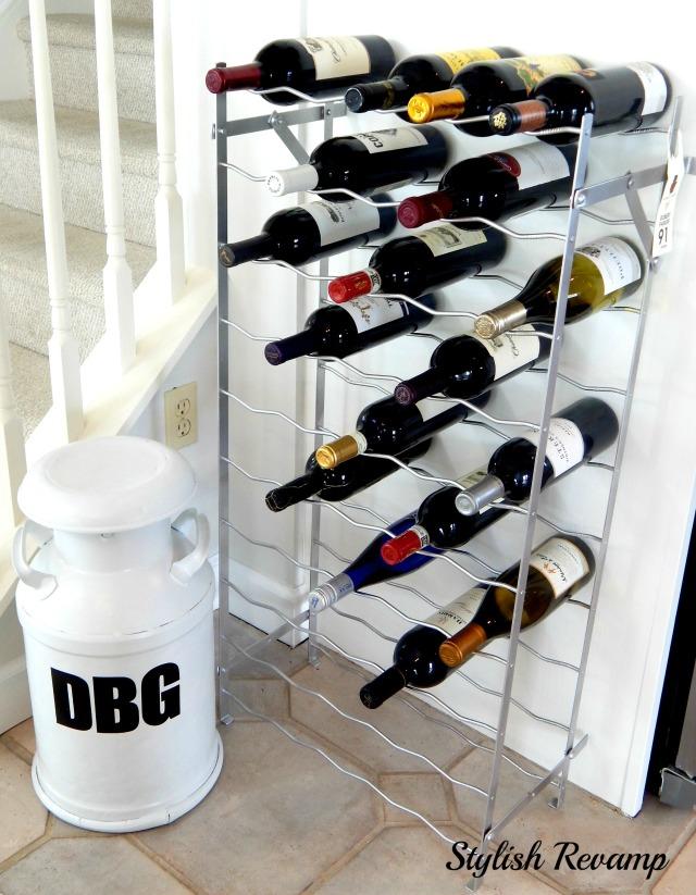 Vintage rack turned into a wine rack