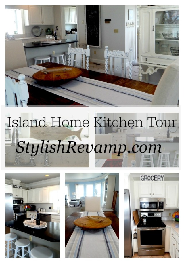 White Kitchen Tour in the Island Home